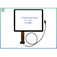 """Quality 14"""" USB Interface Projected Capacitive Touch Screen Panel For Commercial Kiosks for sale"""