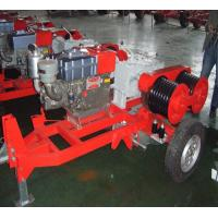 Buy cheap Honda Engine 5 Ton Double Capstan Winch Cable Pulling Machine For Power from wholesalers