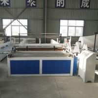 Quality hot sale tissue toilet paper converting machine, paper jumbo roll rewinding embossing perforating machine for sale