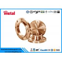 China Class 600 # Copper Pipe And Fittings , ASME SB466 Copper Wall Flange on sale