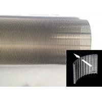 Quality Liquid Filtration Cylindrical Wire Wrapped Screen Small Diameter Durable for sale