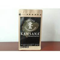 China Eight Side Seal Kraft Paper Coffee Bags , High Strength Vacuum Sealed Coffee Bags on sale