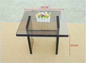Quality High Grade 50*60mm 15mm Thickness Tempered Glass Panels For Tea Table for sale
