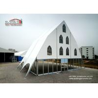 Quality UV Resistant Clear PVC Window 15m Outdoor Event Church Tent for sale