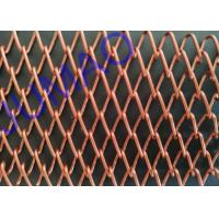 Quality SS Metal 3D Mesh Spark Curtains , Rhomboid Hole Wire Mesh Shower Curtain for sale