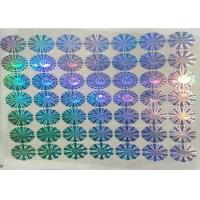 Quality PET Security Anti Fake Label Sticker Multichannel Hologram Code Printing With Logo for sale