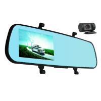 Quality 1080p 5MP COMS Len Manual Rear View Mirror Camera Recorder Motion Detection G - Sensor for sale