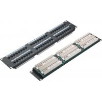 Quality UTP 48 Port Patch Panel 2U AMP Type Cat5e Patch Panels for Computer Center YH4015 for sale