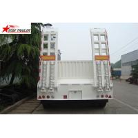 Quality High Point Load Low Flatbed Semi Trailer With Mechanical Suspension for sale