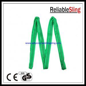 China Custom Loop type Flat / round polyester webbing sling for marine , engineering on sale