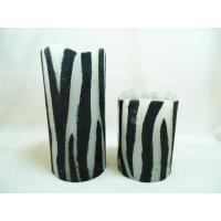 Quality Zebra Print Battery Operated Flameless LED Blow on-off Candles for sale
