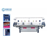Quality Single System Plain Collar Cuff 12G Flat Knitting Machine 2 Carriages for sale