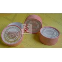 Quality Customised Pink Cardboard Canister Packaging With Plastic Jar for sale