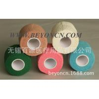 Quality Breathable Self adhesive Cotton Elastic Bandage Hand Tearable Latex free Bandage for sale