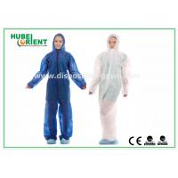 Quality Breathable Non Woven Microporous Fabric Disposable Coveralls for sale