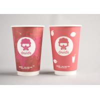 Quality Red Custom Printed Disposable Coffee Cups To Go For Office / Home for sale