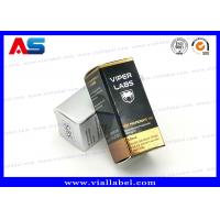 Quality Recyclable Foldable Paper Box For 10ml Glass Vials Bottles With Hologram Labels for sale