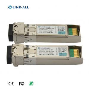 Quality Long Distance 10G SFP+ BIDI 1490NM/1550nm 1550nm/1490nm 80km Transceiver for sale