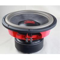 Quality Black And Red Loudest High End Car Subwoofers / High End Stereo Speakers With Eva Gasket for sale