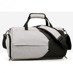 Quality Nylon Gym Duffel Bag With Wet Pocket / Shoes Compartment for sale