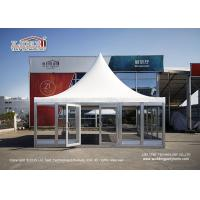 Quality 6X6M Gazebo Canopy Tent With Glass Wall And Flooring For VIP Room for sale