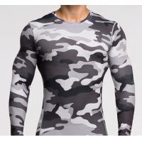 Quality Men Long Sleeve Sports Tight T Shirts Running T-Shirts Fast Drying Muscle Gym clothing for sale
