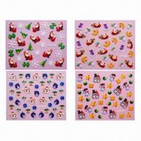 Quality Christmas Design Fingernail/Nail Stickers for sale