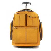Quality Yellow Outdoor Sports  Travel Trolley Bags Polyester Material Numerous Styles for sale