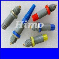 Quality 4 pin equivalent to lemo plug PAG push pull connector with self locking for sale