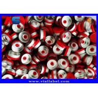 Quality Plastic Aluminum Flip Off Cap 20mm Red Color For Injectable 10ml Vials 22mm Width 50mm Height for sale
