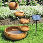 Quality Fiberglass Fountain, Using Solar Pump, Measures 46 x 36 x 55cm for sale