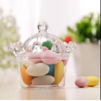 Quality crown style sweet cake andy  chocolate food standard plastic packaging containers for sale