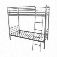 China Metal Bunk Bed for Two Persons, 190 x 90 x 160cm with Mattresses, Sized 190 x 90cm on sale