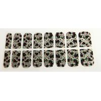 Quality Traditional Chinese painting Finger Nail Stickers , 3D nail sticker Printing with stone for sale