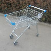 Buy cheap Zinc Plated Metal Store Supermarket Shopping Trolley Grocery Push Cart from wholesalers