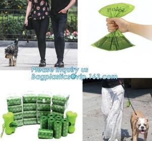 China Compostable Logo Printed Colorful Pet Dog Waste Poop Plastic Garbage Bag 100% Biodegradable, bagplastics, bagease, pac on sale