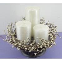 Quality Promotional decorative scented candles wreath for wedding for sale