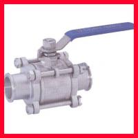 China API 608/ DIN/ BS/JIS Floating Ball Valve For Water , Gas , Oil Control on sale