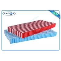 China Customized Red and White Color PP Non Woven Fabric For Five Area Pocket Spring on sale
