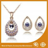 China Ladies Eye Shape Zinc Alloy Jewelry Sets Earrings And Necklace Set on sale