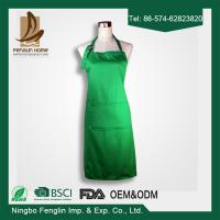China Plain Colour Unisex 100% Cotton Chef Cooking Aprons For Women With Pockets on sale