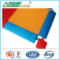 Quality Synthetic Badminton Court Flooring / Anti Skid Outdoor Rubber Playground Surface for sale