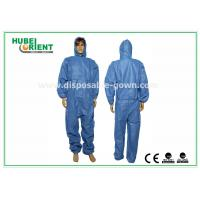 Quality 55g/m2 Nonwoven SMS Disposable Medical Coveralls for sale