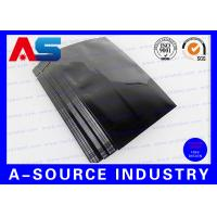 Quality Tablet Aluminum Stand Up Pouch Plastic Blister Packaging 9 * 6 cm Black Color for sale
