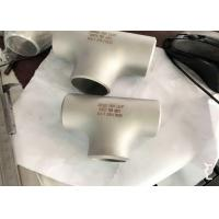 Buy cheap Customized Size Alloy Steel Pipe Fittings Round Tee ASME B16.9 Welding from wholesalers