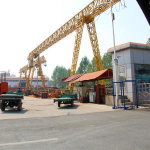 Quality Outdoor Single Beam Gantry Crane Safety 10T 32M Hoist One Year Warranty for sale