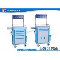 Buy cheap Hospital Emergency Crash Cart ABS Emergency Anesthesia Trolley Cart from wholesalers