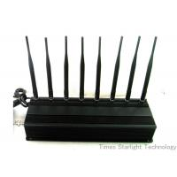 Quality 8 Antennas 4G GPS WiFi Cellphone Jammer / UHF VHF Lojack Cellular Signal Blocker for sale