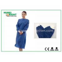 Quality Disposable Surgical Isolation Gown / Custom Hospital Gowns With PP SMS Material for sale