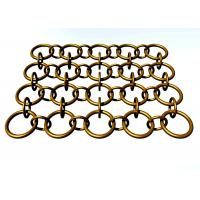 Quality wall decoration Metal Ring Mesh with Round Wire For Decorative Ceiling 1.5m width for sale
